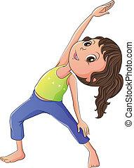 donna, yoga