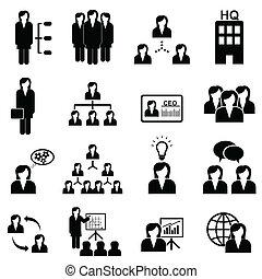 donne affari, icone
