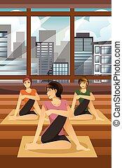 donne, fare, yoga