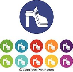 donne, set, scarpa, icone