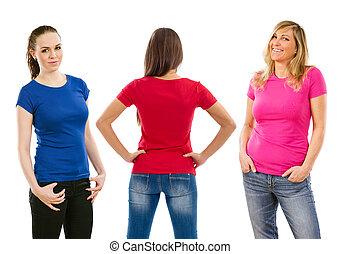 Donne, Tre, camicie, vuoto