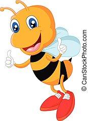 donner, abeille, haut, pouce