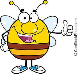 donner, abeille, pouce, pudgy, haut