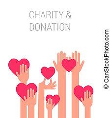donner, affiche, donation, charité, gabarit