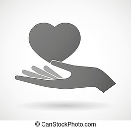 donner, coeur, main