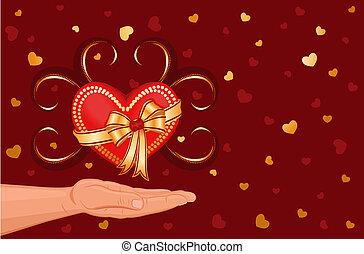 donner, coeur, mon, vous