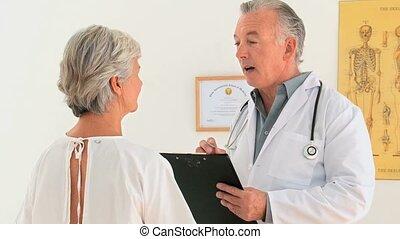 donner, explication, sien, patient, docteur