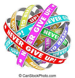 donner, jamais, haut, détermination, progrès, interminable