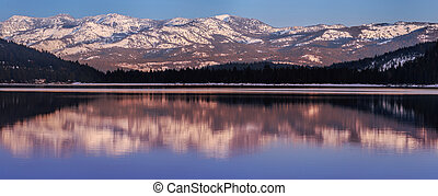 Donner Lake in Sunset