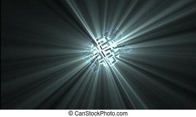 donner, lumière, résumé, mouvement, animation, projecteur