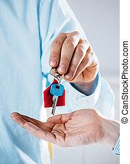 donner, maison, agent, clã©, realty, propriétaire, nouveau