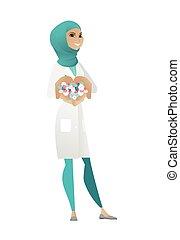 donner, pills., musulman, pharmacien, jeune