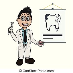 donner, présentation, dentiste