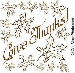 donner, texte, remerciement