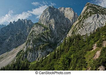 Donnerkogel Gosaukamm Mountains in Austria