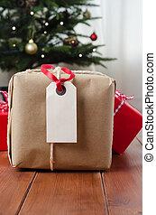 dons, bois, arbre, paquet, noël