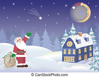 dons, claus, santa, lune