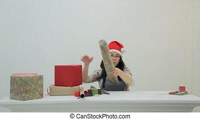 dons, emballages, année, holidays., autre, asiatique, nouveau, noël