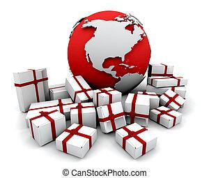 dons, mondiale, autour de
