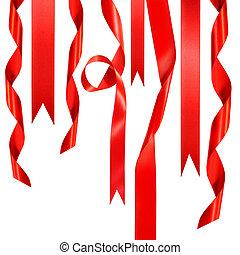 dons, witte , linten, rood, hangend