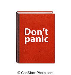 dont, 正文, 覆蓋, 被隔离, 書, 恐慌, 紅色