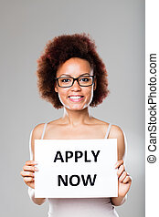don't be scared and apply now says this young afroamerican woman