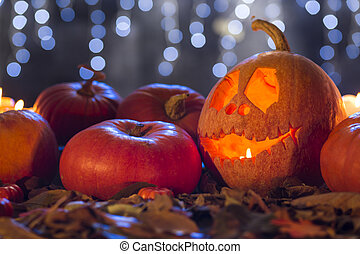 Don't be scared, it's only a pumpkin