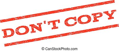 Don'T Copy Watermark Stamp
