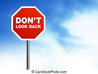 dont, -, costas, sinal, estrada, olhar