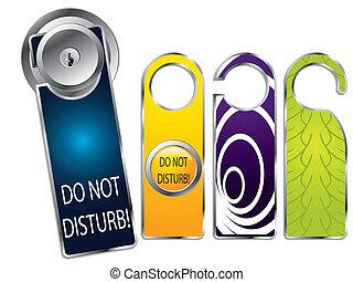 Don't disturb labels - Do not disturb labels, one on door...