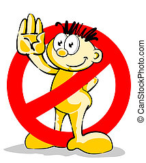 Dont do it! symbol - Little man that STOP you from doing the...