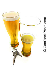 beers with car keys - Don't drink and drive. One and a half...