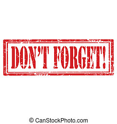 Don't Forget-stamp