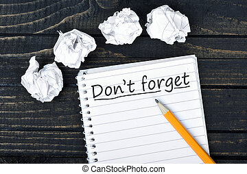 Don't forget text on notepad