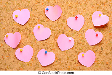 Don't forget Valentine's day! - Cork board with heart shape...