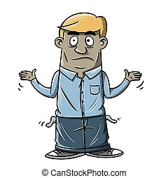 don't have money - illustration of someone who is confused...