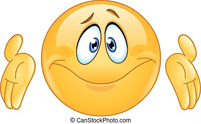 dont know emoticon - Puzzled emoticon with shrugs shoulders...