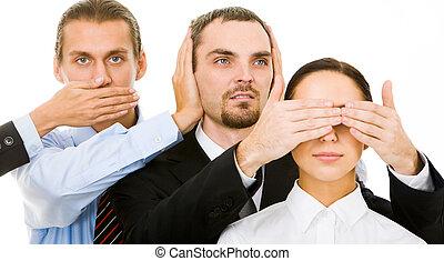 Don?t look, don?t listen, don?t speak - Image of business ...
