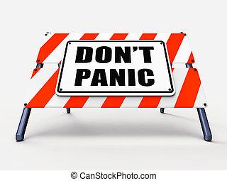 dont, odprężając, omijać, znak, panika, refers, panika
