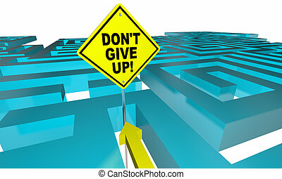 dont, perdu, donner, positif, haut, illustration, attitude, manière, labyrinthe, trouver, 3d