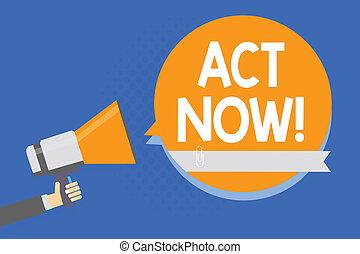 dont, photo, signe, haut-parleur, now., jeûne, retard, arrière-plan., demander, parole, tenue, texte, conceptuel, porte voix, bulle, bleu, quelqu'un, projection, orange, réponse, homme, acte, action, avoir
