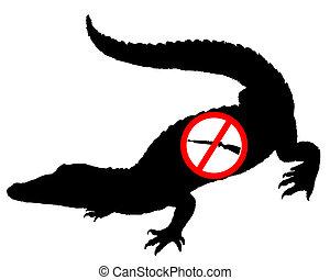 Don?t shoot crocodile