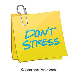 dont stress post illustration design