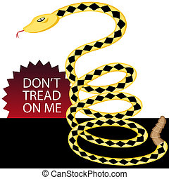Don't Tread on Me Snake - An image of a yellow rattlesnake.