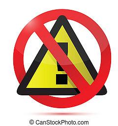 dont warning sign illustration design
