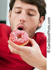 donut , κατάλληλος για να φαγωθεί ωμός , άντραs