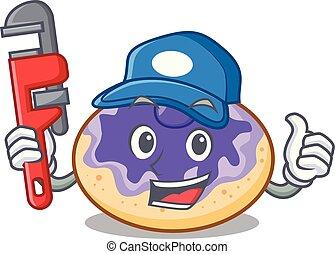 donut , υδραυλικός , γουρλίτικο ζώο , είδος βατόμουρου , γελοιογραφία