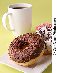 donut and coffee cup