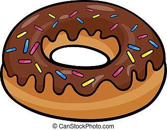 donut, arte clip, cartone animato, illustrazione