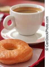 donut, caffè